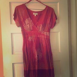 Moulinette Soeurs silk chrysanthemum dress